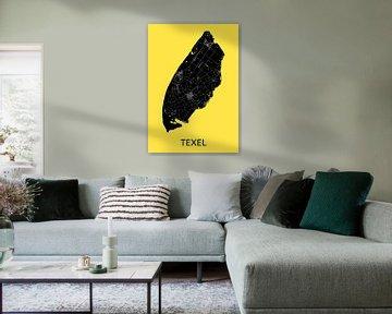 Texel Landkaart | Warmgeel