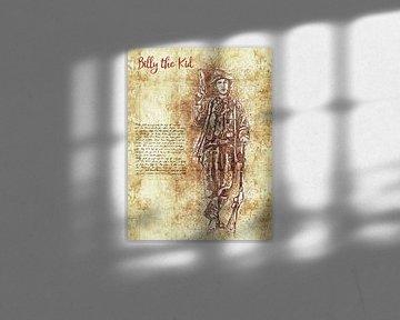 Billy de Kid van Printed Artings