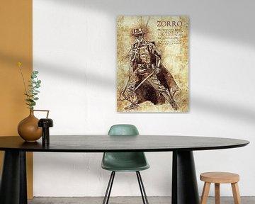 Zorro von Printed Artings