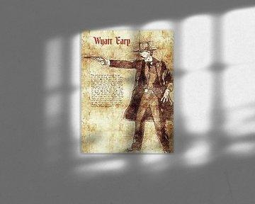 Wyatt Earp von Printed Artings