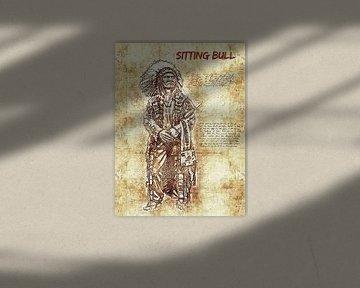 Sitting Bull von Printed Artings