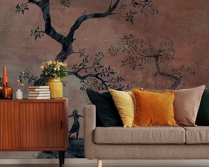 Sfeerimpressie behang: De bergen van Igam van Atelier van Saskia