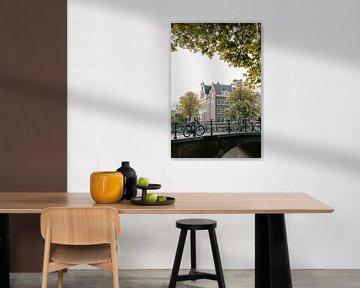 Ikonische Stadtlandschaft von Amsterdam, Niederlande. von Manon Galama