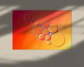 Oliedruppels op water van shoott photography