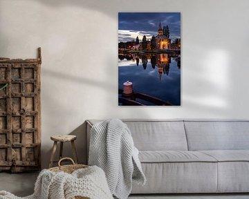 Der Zijlpoort in Leiden am Abend von Martijn Joosse