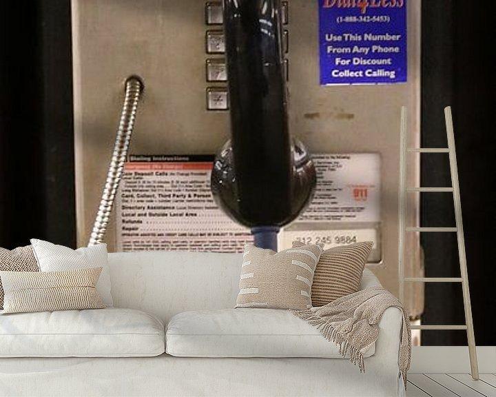 Beispiel fototapete: Öffentliches Telefon Münztelefon in NYC von Christine aka stine1