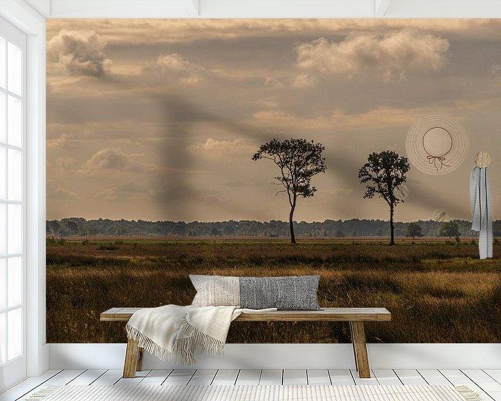 Sfeerimpressie behang: Nationaal Park Dwingelderveld van Ingrid Aanen