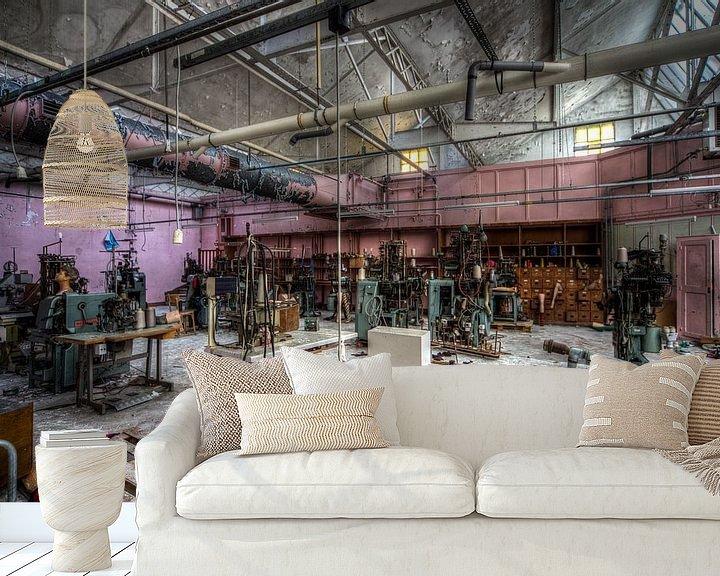 Beispiel fototapete: Sockenfabrik von michel van bijsterveld