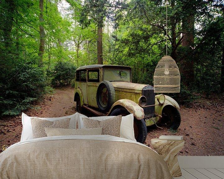 Beispiel fototapete: Auto im Wald von michel van bijsterveld