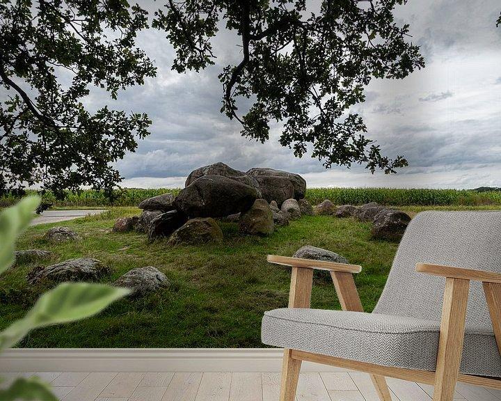 Sfeerimpressie behang: Hunebed Loon van Ingrid Aanen