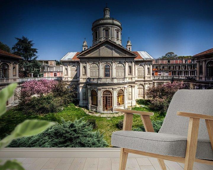 Beispiel fototapete: kirche italien von michel van bijsterveld