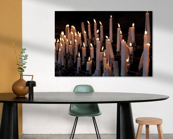 Sfeerimpressie: Devotiekaarsen bij de Basilika van rene marcel originals