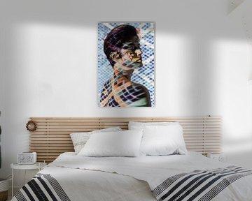 Vrouw in mozaiek van Iris Kelly Kuntkes