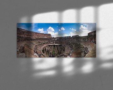 Panorame van het Colosseum  (Colosseo) in Rome van Justin Suijk