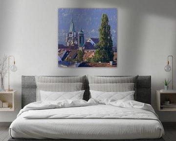 Torens en torentjes in Freiburg van Patrick Lohmüller