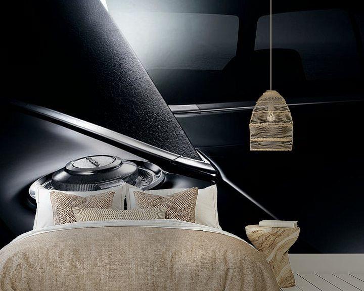Sfeerimpressie behang: 1970 DODGE CHARGER TRIPLE BLACK MOPAR van Thomas Boudewijn