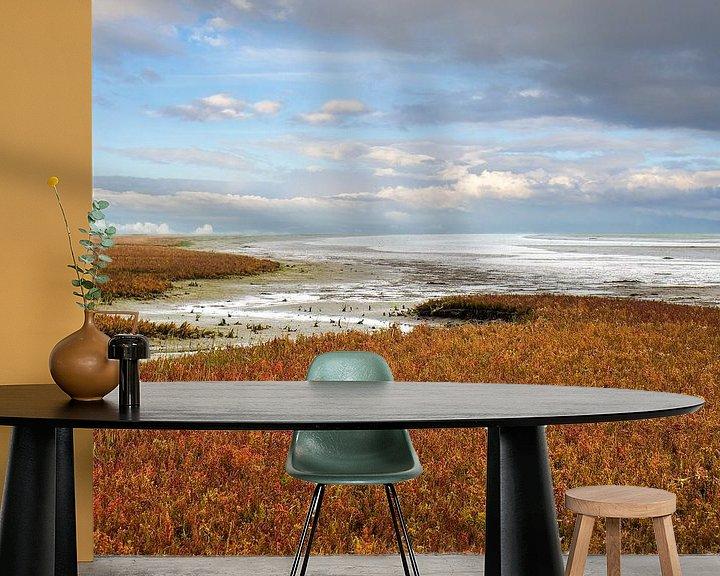 Beispiel fototapete: Herbst am Wattenmeer von Jan Huneman
