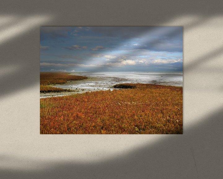 Beispiel: Herbst am Wattenmeer von Jan Huneman