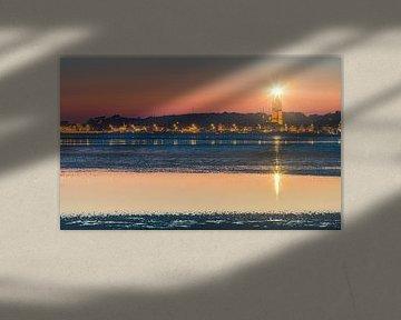 Zonsondergang bij de Brandaris, Terschelling van Henk Meijer Photography