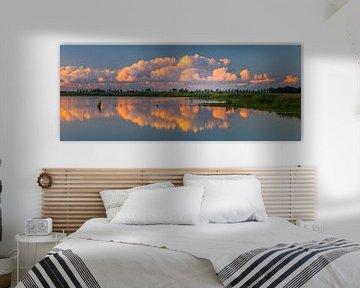Panorama foto van natuurgebied 't Roegwold, Groningen van Henk Meijer Photography