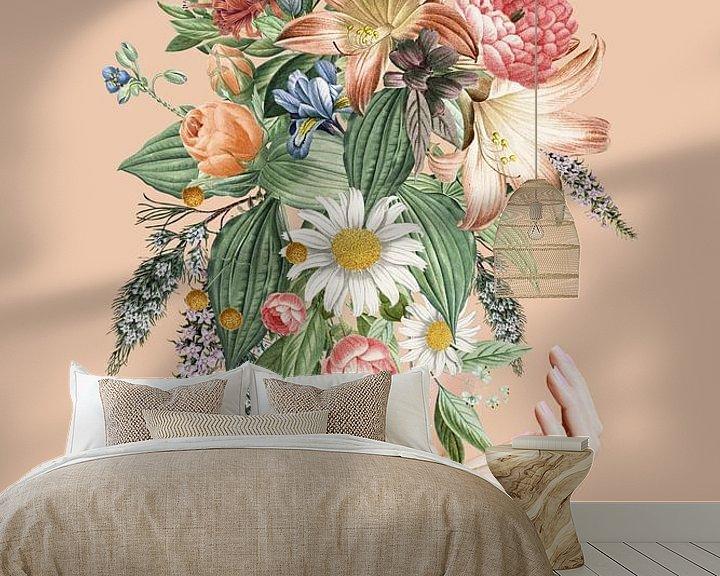 Sfeerimpressie behang: She Blossoms van Marja van den Hurk