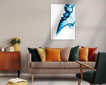 Wierook pluim blauw rechts van shoott photography
