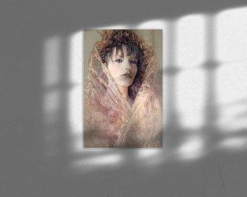 Une femme avec des fissures sur Marijke de Leeuw - Gabriëlse
