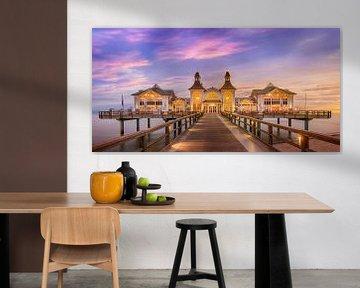 RÜGEN pier in Sellin bij zonsopgang | Panorama van Melanie Viola