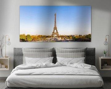 Eiffelturm und die Skyline von Paris von Werner Dieterich