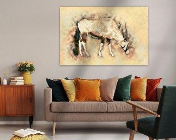 Gemsbok (kunst) van Art by Jeronimo