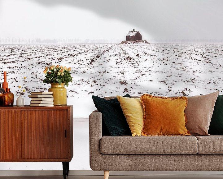 Sfeerimpressie behang: Winter in Holland van Frank Peters