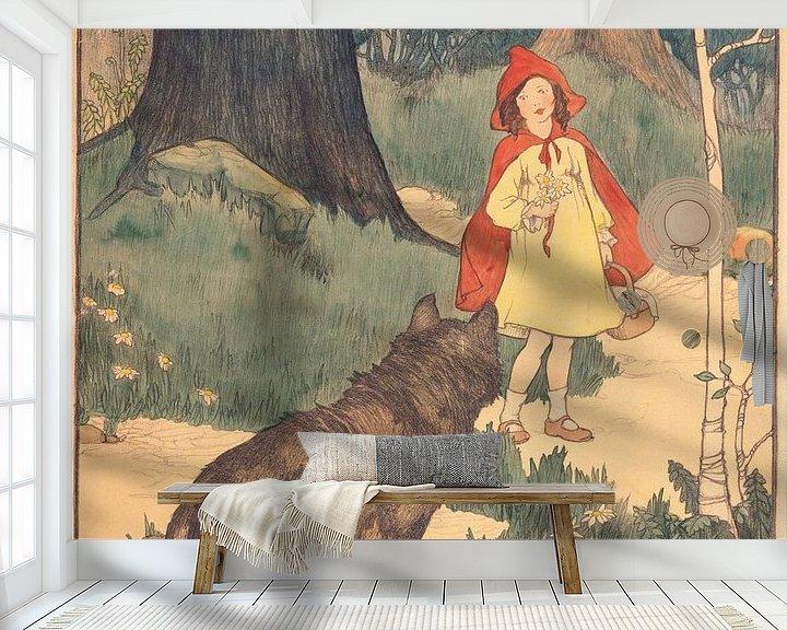 Beispiel fototapete: Rotkäppchen, Elizabeth Tyler von Vintage Afbeeldingen