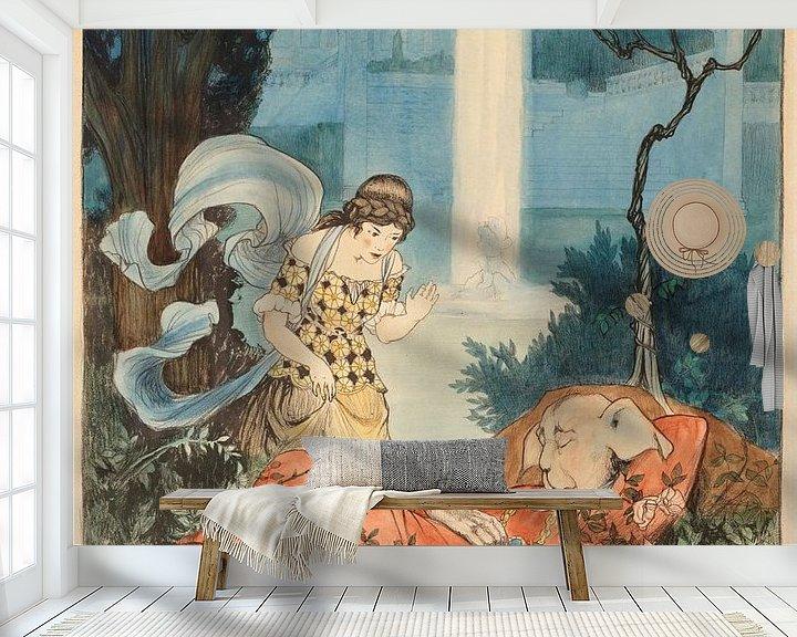 Beispiel fototapete: Die Schöne und das Biest, Elizabeth Tyler von Vintage Afbeeldingen