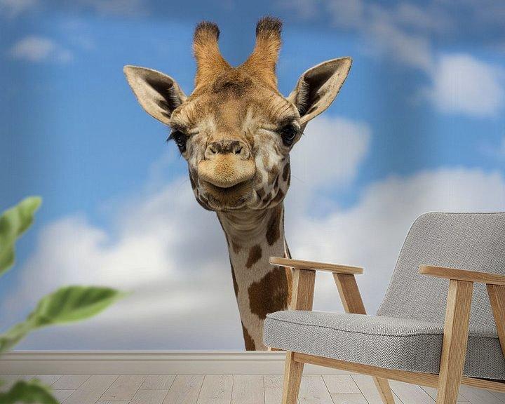Beispiel fototapete: Nubische Giraffe von Rob Legius