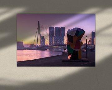 Pink sunrise in Rotterdam