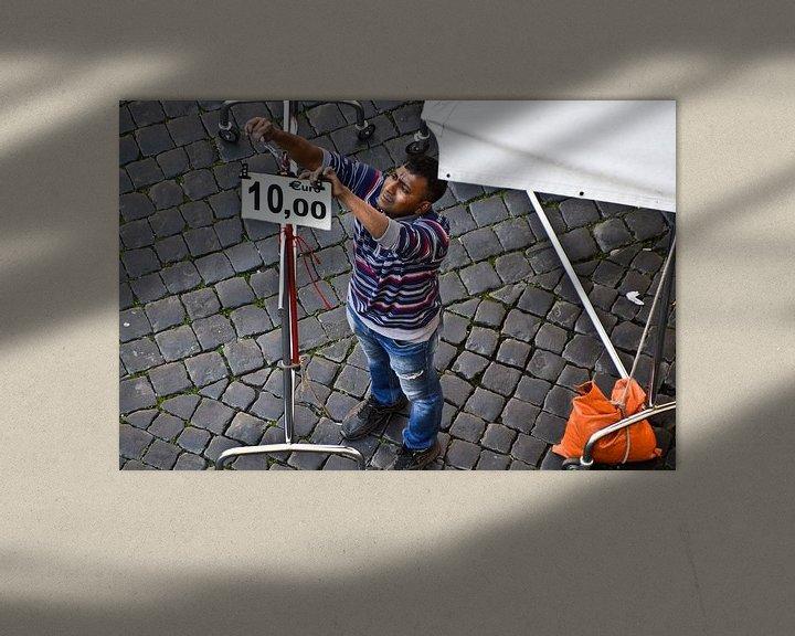 Sfeerimpressie: Marktkoopman Rome van Marieke van der Hoek-Vijfvinkel