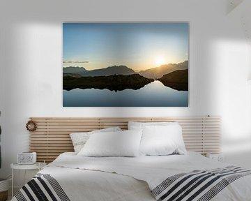 Zonsondergang in de Franse Alpen van Martijn Joosse