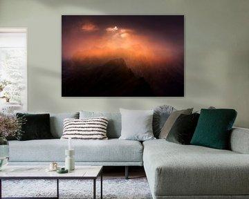 Alpen Zonsondergang van Frank Peters