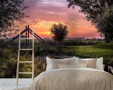 Sunrise in Bedum van Ronnie Schuringa