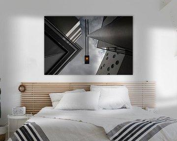 Architectuur met lichtmast van Wim Schuurmans