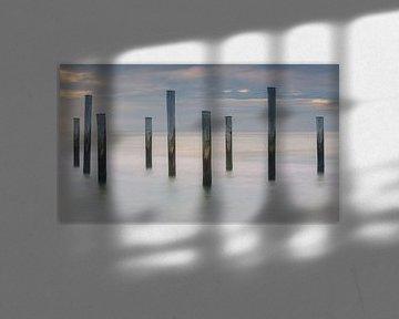 Zonsondergang bij Palendorp in Petten, Noord-Holland van Henk Meijer Photography