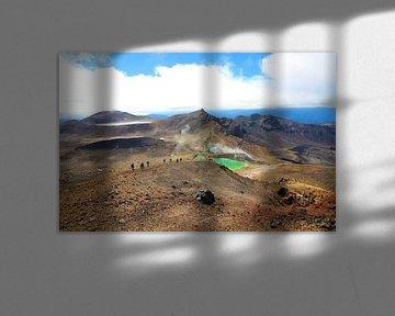 Smaragdseen, Tongariro-Nationalpark Neuseeland