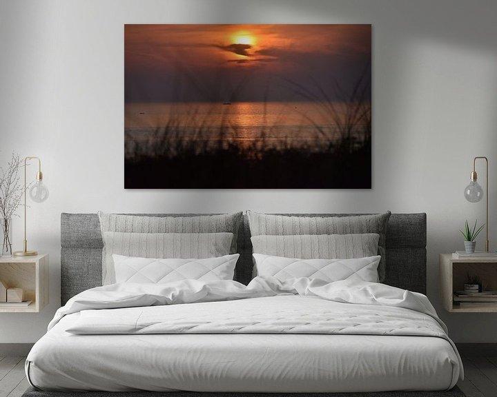 Beispiel: Beobachten, wie die Sonne im Meer versinkt. von Jurjen Jan Snikkenburg