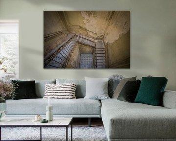 Treppenhaus in italienischer Villa von Wesley Van Vijfeijken
