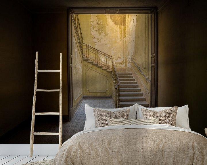 Beispiel fototapete: Treppenhaus in italienischer Villa (liegend) von Wesley Van Vijfeijken