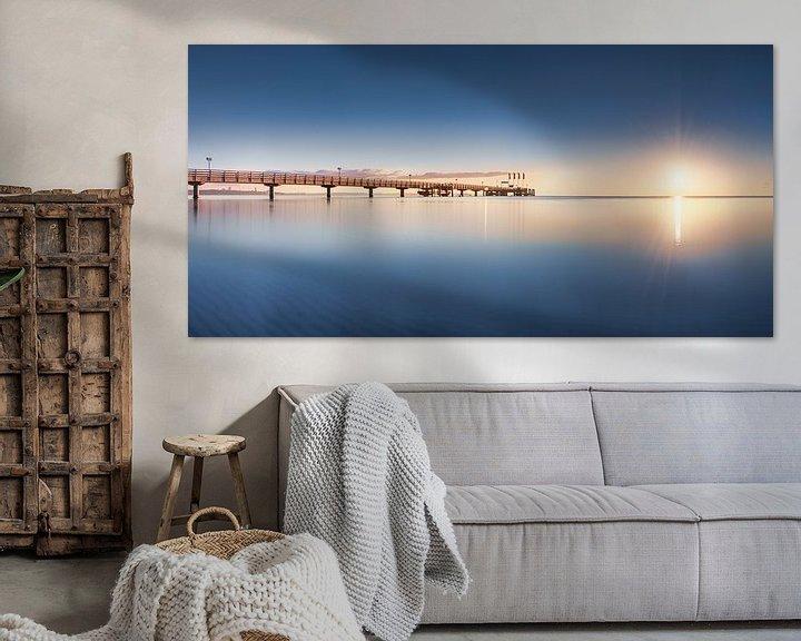 Beispiel: Sommerliche Ostsee und Seebrücke von Scharbeutz von Voss Fine Art Fotografie