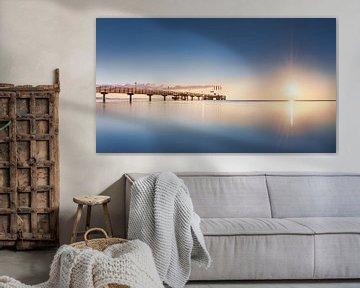 Zomer Oostzee en Scharbeutz pier van Fine Art Fotografie
