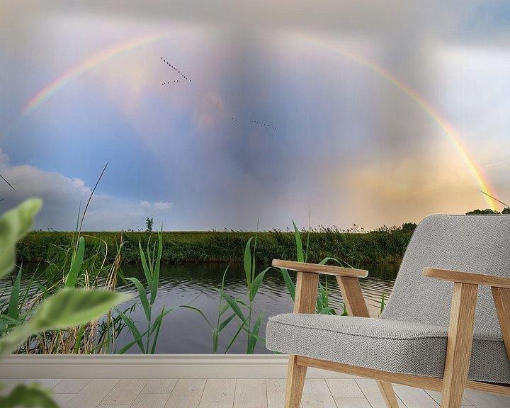 Sfeerimpressie behang: Regenboog van Mark Bolijn
