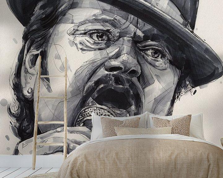 Beispiel fototapete: Andre Hazes Gemälde von Jos Hoppenbrouwers