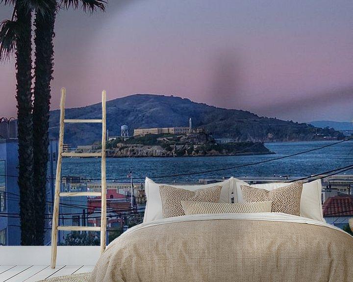 Beispiel fototapete: Alcatraz, Bucht von San Francisco, USA von Joost Jongeneel